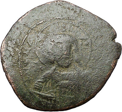 JESUS CHRIST Class A2 Anonymous Ancient 1028AD Byzantine Follis Coin i47627