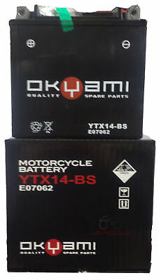 Batteria Ytx14-Bs Bmw 1200 R Gs 2003 2004 2005 2006 2007 2008 2009 2010 2011
