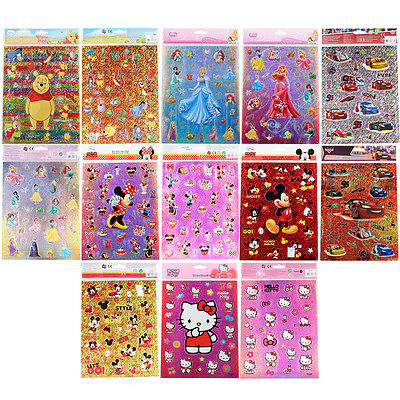 ♥Disney Sticker/aufkleber/cars/winnie The Pooh/princess/minnie Mouse/hello Kitty