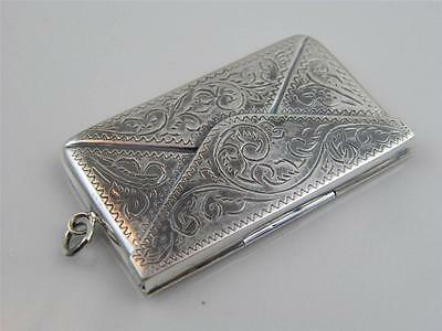 Chased Sterling Silver Stamp Case