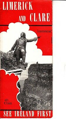 """Limerick and Clare """"See Ireland First"""" Vintage Brochure Shannon Powerhouse Photo"""