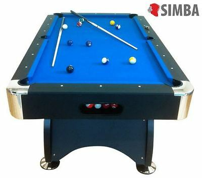 7Ft blu Pool Table Billiard Playing Cloth Indoor Sports Game billiards table new