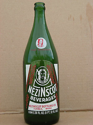 Nezi N Scot Beverages, 28 oz. bottle, Turner, Maine. 1972