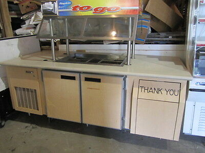 Refrigerated Food Bar~Huge Refrigerated Salad Bar~Custom Made