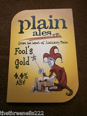 Beer Pump Clip - Plain Ales Fool's Gold