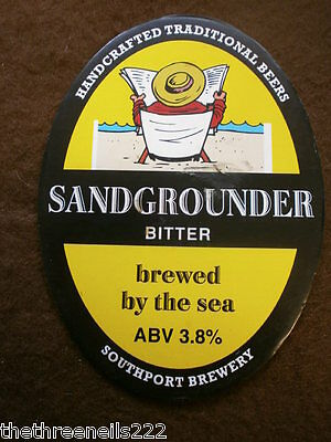 Beer Pump Clip - Southport Sandgrounder Bitter