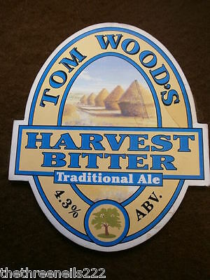 Beer Pump Clip - Tom Wood's Harvest Bitter