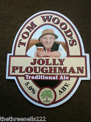 Beer Pump Clip - Tom Wood's Jolly Ploughman