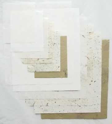 Clearance 24 Mixed Sheets of Beautiful Natural Coloured Papers