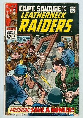 Captain Savage and His Leatherneck Raiders #6 September 1968 VG