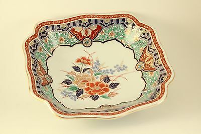 Vintage Asian Japanese Porcelain Shiba Ta Toki Imari Rectangle Vegetable Bowl