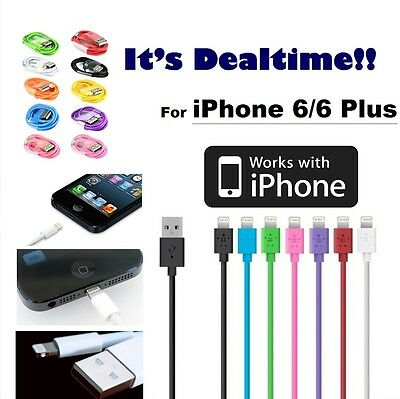 For Apple iPhone 6 6 Plus USB Lightning Cable Charger Data Sync iPhone 5 5s SE