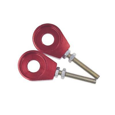 2pcs 12mm Chain Tensioner Adjusters Fit Honda XR CRF 50 70 Bike Scooter Red