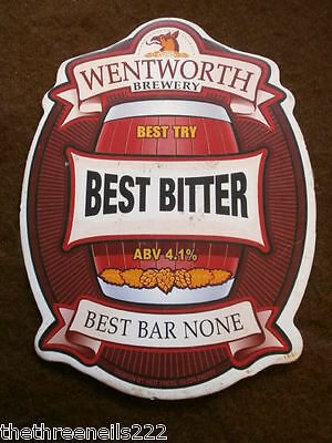 Beer Pump Clip - Wentworth Best Bitter
