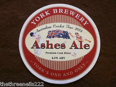 Beer Pump Clip - York Ashes Ale Australian Tour 2005
