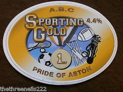 Beer Pump Clip - A.b.c. Sporting Gold