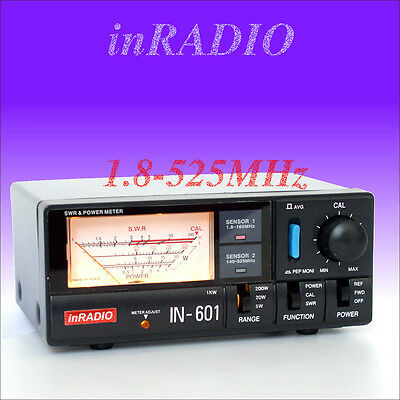 INRADIO IN-601 SWR & POWER METER HF VHF UHF 1.8-525MHz WORLDWIDE DELIVERY IN601