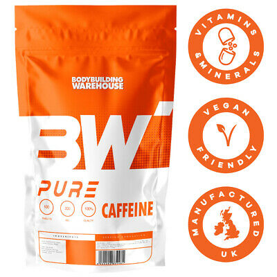 Pure Caffeine 200mg Tablets Pre Workout Pharmaceutical Grade Energy Focus