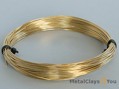 Unplated Soft Brass Round Wire 0.4mm to 2.0mm