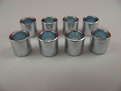 8 x  BEARING SPACERS 8mm BORE x 10mm WIDTH SKATEBOARDS,SCOOTERS,ROLLER SKATES