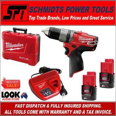 Milwaukee M18 18V Fuel Brushless Drill & Impact Driver Combo Kit M18Pp2A-402C Au
