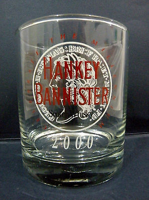 Hanky Bannister Whisky Glass  vgc
