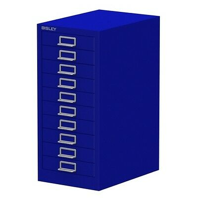 BLUE 10 MULTI DRAWER 'BISLEY' FILING CABINET - BRAND NEW 590H x 279W x 380Dm
