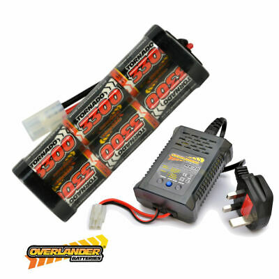 7.2v 3000mah Ni-MH Rechargeable Battery Pack and Fast Charger RC Car Tamiya