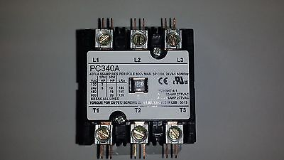 New Magnetic Contactor PC340A 3-Pole 24V 50/60HZ 40FLA 50 RES Amp