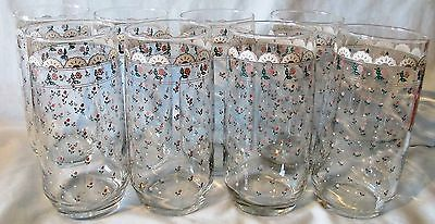 Victoriana Rose set of 8 glasses 12 oz size