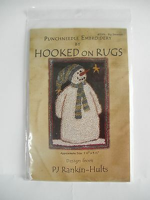 Big Snowman...punchneedle by Hooked on Rugs