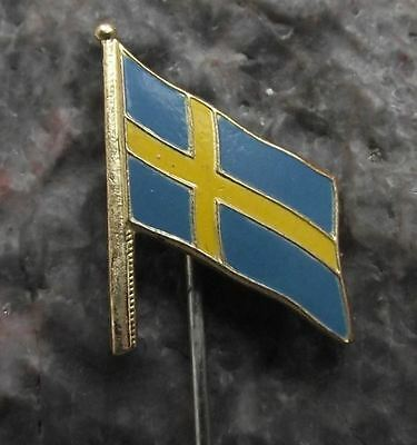 Swedish National Flag of Sweden Scandinavian Nordic Cross Tourist Pin Badge