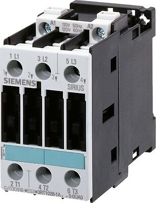 Siemens 3RT1023-1AC20 9 AMP 3 pole contactor with a 24 volt AC coil.