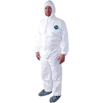 Dupont TY122S White Tyvek Disposable Bunny Suit W/Hood & Boots Size M-4XL 25/CS