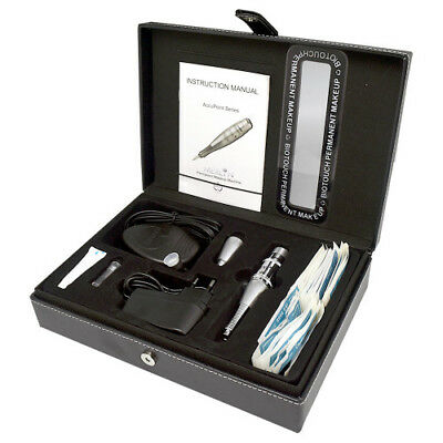 BioTouch 230v DELUXE MERLIN MACHINE Kit Permanent Tattoo Needle Round Plug