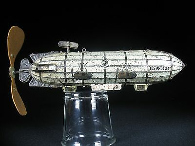 RARE VINTAGE WIND UP ZEPPELIN AIRSHIP SPACE PLANE TOY SG GUNTHERMANN GERMANY