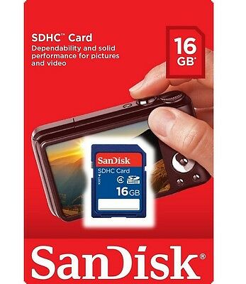 SanDisk 16GB SD 16G SDHC Secure digital Card fit Camera Tablet GPS DVR *Retail