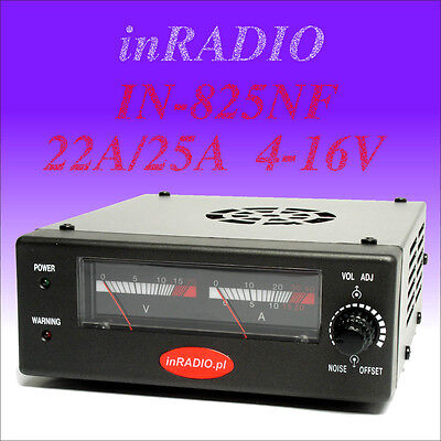 INRADIO IN-825NF - SWITCHING POWER SUPPLY 22A/25A 4-16V + Kostenloser Versand!