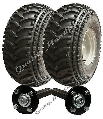 ATV trailer kit - Quad trailer wheels + hub / stub 310kg P308 utility road legal