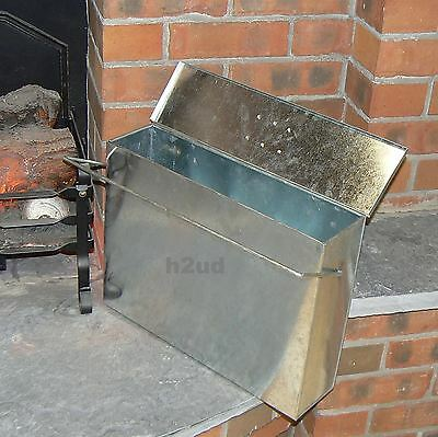 Galvanised Hot Ash Tidy Box Carrier Bucket Fireplace Pan