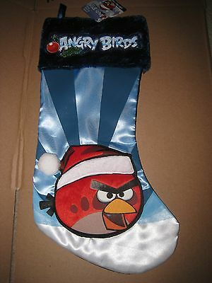 Nwt Angry Birds Red Bird Christmas Stocking I Ship Everyday