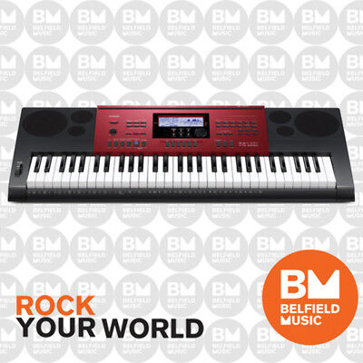 Casio CTK6250 Digital/ Electronic Keyboard Touch Responsive 61 Key Metallic Red