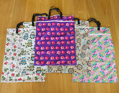 XL Extra Large 2 Zip Wet Bag for Reusable Nappies / Laundry / Nappy Bin