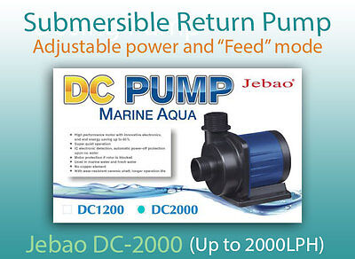 Jebao DC-2000 return pump with conrtoller and adjustable power (Up to 2000 LPH)
