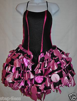 New Adult size Small pink black  dancewear TuTu dance Dress Bodysuit Costume