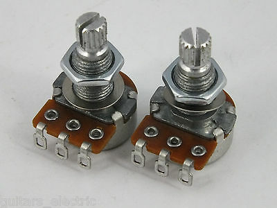 MINI ALPHA POTS Log A or Linear B 500k Volume Tone Potentiometers for Guitars