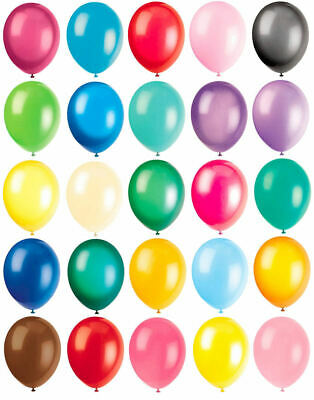 "10 Latex Balloons - 12"" Inch - 20 Colours To Choose - Helium Quality Party"