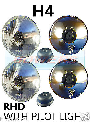 "5.75"" 5 3/4"" Classic Car Sealed Beam Headlamps Headlights Halogen H4 Conversion"