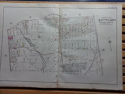 1899 Map of Philadelphia - RARE - 22nd Ward - Stenton Ave to P&RRY Tracks
