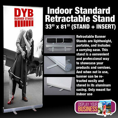 "Indoor Standard Retractable Stand 33"" x 81"" (STAND + INSERT)"